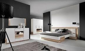 komplettes schlafzimmer set montana weiß schwarz schrank