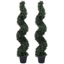 Charles Bentley Pair Of 4ft Spiral Topiary Trees