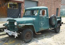 100 Willys Jeep Truck BROOKLYN NY AUGUST 17 1953 In Brooklyn Stock