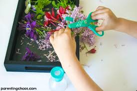 This Parts Of A Flower Cutting Tray Was Fun Scissor Activity To Work On My