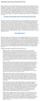 Saks Fifth Avenue Promo Codes May 2013 Week
