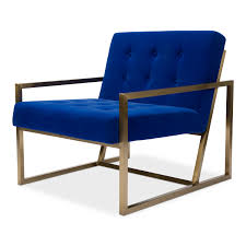 Modern Lounge Chair- Blue And Matte Gold | Modern Luxe Rentals Charlize Modern Lounge Chair In Midnight Blue By Nuevo Eurway Brayden Studio Joleen Round Velvet Swivel Wayfair Midcentury Dutch Chairs Martin Visser For T Gerhard Berg Peter Wessel Ltd Stainless Steel Frame Swing With Footrest Buy Field Leather Blu Dot Borge Jsen High Back Danish Mid Century Kent Modloft Better Homes Gardens Alani And Ottoman Plycraft Chairish Stanford Charcoal