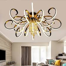 Post Modern Simple Led Chandelier Living Room Lighting Atmospheric Creative Personality Crystal Art Hall Master
