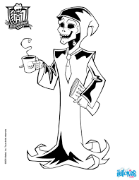 Ghoulia Yelps Doll Coloring Pages