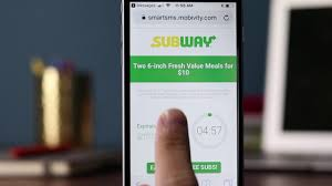 Mobile Marketing Strategies | Subway Timed Mobile Coupons Subway Singapore Guest Appreciation Day Buy 1 Get Free Promotion 2 Coupon Print Whosale Coupons Metro Sushi Deals San Diego Coupons On Phone Online Sale Dominos 1for1 Pizza And Other Promotions Aug 2019 Subway Usa Banners May 25 Off Quip Coupon Codes Top August Deals Redskins Joann Fabrics Text Canada December 2018 Michaels Naimo Deal Hungry Jacks Vouchers Valid Until Frugal Feeds Free 6 Sub With 30oz Drink Purchase Sign Up For