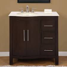 45 Ft Bathroom by 36 Inch Modern Single Bathroom Vanity With Cream Marfil Marble And
