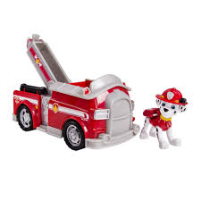 Paw Patrol Marshall's Fire Fightin' Truck, Vehicle And Figure ...