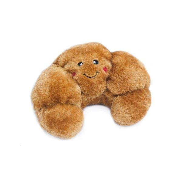 ZippyPaws NomNomz Plush Squeaker Dog Toy Croissant