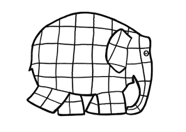 Coloring Page Of Elmer The Elephant And Inside