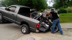 100 Motorcycle Ramps For Pickup Trucks Removing A From A Truck No Ramp No Problem