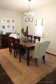 Dining Room With Jute Rug