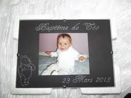 cadre photo bapteme personnalise cadre photo gravé naissance bébé ou baptème val creation val