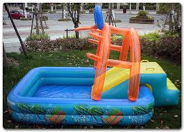 O Multifunctional Castle Shape Inflatable Paddling Swimming Pool For