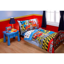 100 Fire Truck Bedding The Official PBS KIDS Shop Sesame Street Department 4Piece