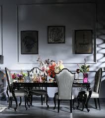 casa padrino luxus barock esstisch schwarz braun 210 x 110 x h 78 cm edler massivholz küchentisch mit glasplatte und spiegelglas barock