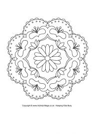 Rangoli Colouring Pages Inside Designs Printable Coloring