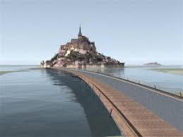 traversee mont michel sortie le mont michel redevient une île départ barrage mont