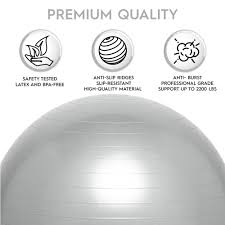 Weighted Yoga Ball Chair For Kids & Adults Up 5' 6