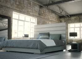 King Platform Bed With Leather Headboard by Modloft Prince Leather Platform Bed Beyond Stores