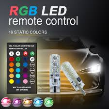 1 pair t10 w5w 194 rgb multi colors changing led clearance light