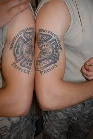 Firefighter Tattoo On Half Sleeve Photo