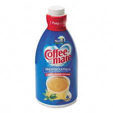 Coffee Mate Liquid French Vanilla Creamer 15 Liter Pump Dispenser