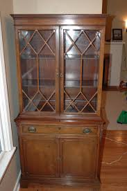 Late 1800 s Antique China Cabinet With Patent Stamp