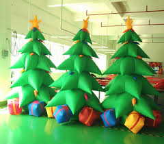 Factory Sale 3m Height Inflatable Christmas Tree Cheap For Party Decoration With High