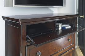 Ashley Furniture Desk And Hutch by Porter Media Chest From Millennium By Ashley Furniture