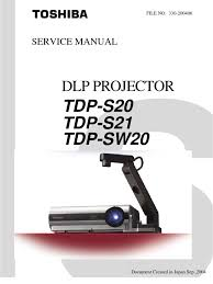 Tdp Lamp Replacement Head by Toshiba Tdp S20 Service Manual Display Resolution Personal