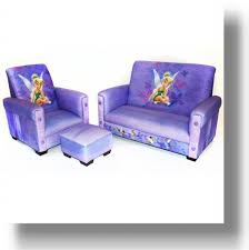 Marshmallow Flip Open Sofa Disney Princess by Tinkerbell Recliner With Footstool And Matching Sofa Princess