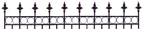 Halloween Cemetery Fence by Cemetery Fence Clipart 2
