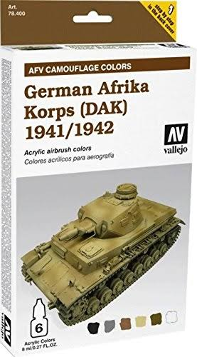 Vallejo Armour Set - AFV German Afrika Korps 1941/42 (DAK) VAL78409