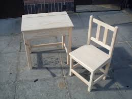 Kids Activity Desk And Chair Hand Crafted Childrens Baby Table Set ...