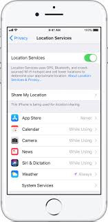 Turn Location Services and GPS on or off on your iPhone iPad or
