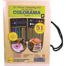 Telebrands Colorama 51 Piece Coloring Kit
