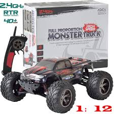 Large Remote Control RC Kids Big Wheel Toy Car Monster Truck - 2.4 ...
