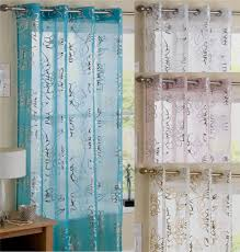 Green Striped Curtain Panels by 676459502 O Modern Voile Curtain Panel Many Colours Eyelet Ring