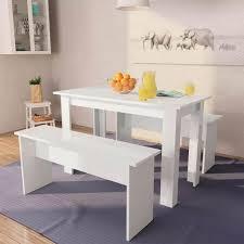 tischgruppe 120 x 59 cm 4 personen esszimmer esstisch küche sitzgruppe tisch bank bänke spanplatte esszimmergarnitur moderner stil essgruppe