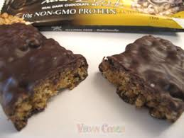 NuGo Dark Bar Cut In Half