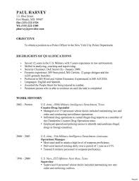 Police Free Resume Examples For Law Enforcement Officer Sample Monstercomrhmonstercom Example Criminal Profile Template Inspirationa Rhcrossfitrespectcom