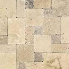 Daltile Travertine Peruvian Cream Paredon Pattern Natural Stone Floor And Wall Tile Kit Sq At The Home Depot