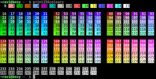 256 Colour Test Pattern