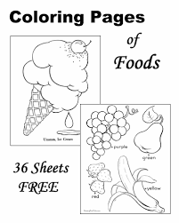 Bunch Ideas Of Food Coloring Pages For Toddlers On Example