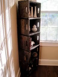 Rustic Wood Crate Bookshelf
