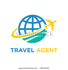 Travel Agent Vector Logo Design Illustration