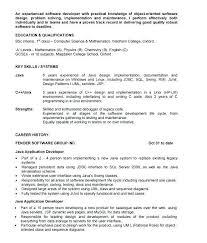 Sample Resume For Java Developer 1 Year Experience