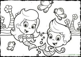 Bubble Guppies Coloring Pages Happy Playing