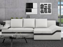 canape blanc noir canapé d angle convertible en simili azola noir ou blanc