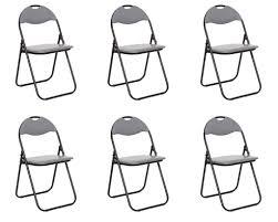klappstuhl metall 6er set küchenstuhl gästestuhl real de